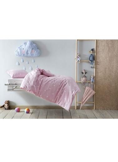 Hibboux 100x150 Rain Bebek Nevresim + Yastık Kılıfı - Pink Pembe